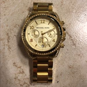 Gold Micheal Korda Watch